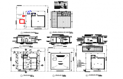 Commercial plan and section autocad file