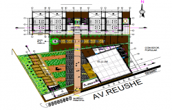 Commercial plan detail dwg file