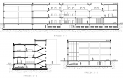 Commercial plan elevation detail dwg file.