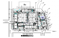 Commercial plaza architectural plan