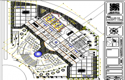Commercial shopping center architecture layout plan details dwg file