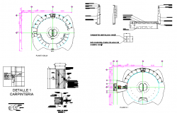 Commercial square plan dwg file