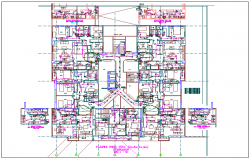 Commercial structure floor plan detail view dwg file