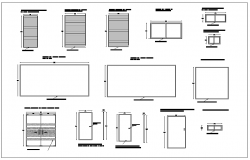 Commercial type door and window detail dwg file