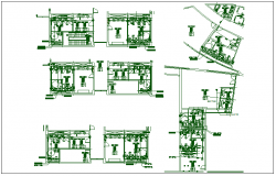 Commercial wash room plan view detail dwg file