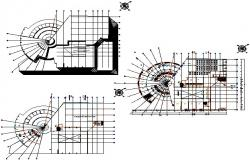 Commercial working office building plan detail dwg file