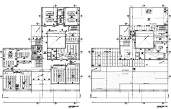 Commercial working plan detail dwg file
