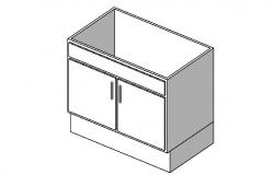 Common 3d drawing room cabinet block cad drawing details dwg file