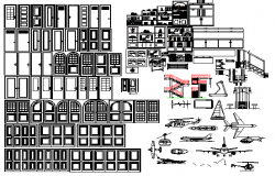 Common Door and Window and Air Vehicle Blocks dwg file