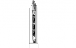 Common Roman column cad details