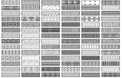 Common blocks details of floor tiles dwg file