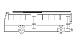 Common bus side elevation cad block details dwg file