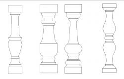 Common column elevation blocks cad drawing details dwg file