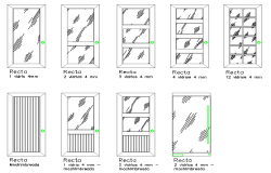 Common multiple door blocks design dwg file