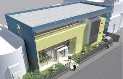 Complete 3d elevation of corporate building