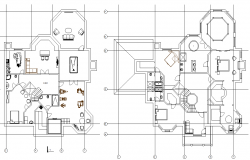 Complete architectural layout plan of a building