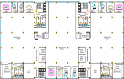 Complete layout plan of a office dwg file