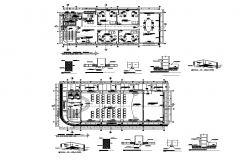 Complex multi-purpose building plan layout file