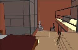 Computer cabinet details 3d