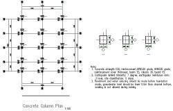 Concert column plan detail dwg file