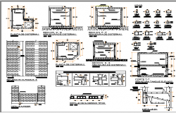Concrete Structure of Hospital Building dwg file