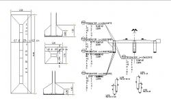Concrete structure bridge construction cad drawing details dwg file