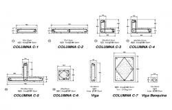 Concrete structured column construction cad drawing details dwg file