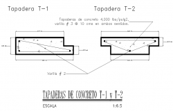 Concrete taraderas plan detail dwg file