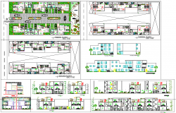 Condominium architecture projects detail in cad