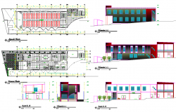 Condominium office structure plan detail view dwg file