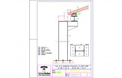 Connection of pillar, beam , steel roof