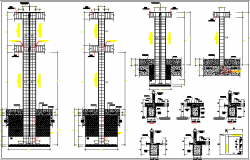 Constitution Details of Garage Architecture Design dwg file