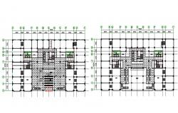 Construction Building Floor Plan DWG File