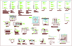 Construction Design of different area view dwg file