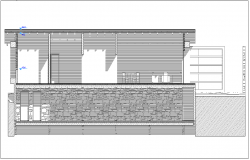 Construction Design with sectional view of building