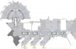 Construction Details of First Floor of Resort  dwg file