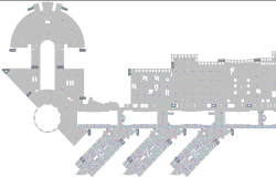 Construction Details of Second Floor of Resort  dwg file