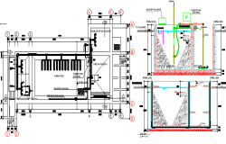 Construction Details of Waste Water Treatment Plant dwg file