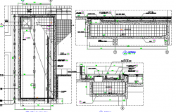 Construction Details of Water Tank of House dwg file