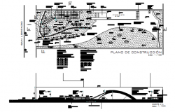 Construction Planning and section detail of dwg file