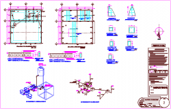 Construction and structure view with detail dwg file