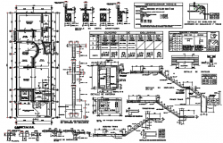 Construction building plan detail dwg file