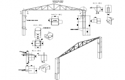 Construction building section detail dwg file