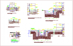 Construction design of classroom view dwg file