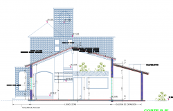 Construction detail- beam and ceramics plan detailed dwg.