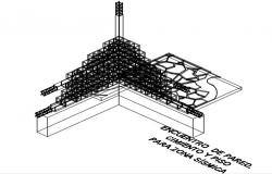 Construction detail drawing of wall - footing.