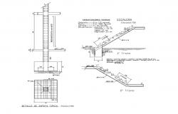 Construction detail in autocad