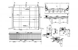 Construction detail in dwg file