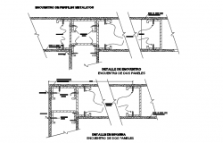 Construction detail layout and plan