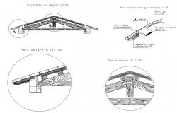 Construction detail of truss in AutoCAD